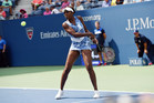 August 31, 2015 - Venus Williams in action against Monica Puig (not pictured) in a women's singles first round match during the 2015 US Open at the USTA Billie Jean King National Tennis Center in Flushing, NY. (USTA/Andrew Ong)