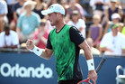 September 1, 2015 - Lleyton Hewitt reacts against Aleksandr Nedovyesov (not pictured) in a men's singles first round match during the 2015 US Open at the USTA Billie Jean King National Tennis Center in Flushing, NY. (USTA/Ned Dishman)