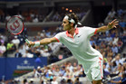 September 3, 2015 - Roger Federer in action in a men's singles second round match against Steve Darcis during the 2015 US Open at the USTA Billie Jean King National Tennis Center in Flushing, NY. (USTA/Andrew Ong)