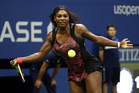September 4, 2015 - Serena Williams in action against Bethanie Mattek-Sands (not pictured) in a women's singles third-round match during the 2015 US Open at the USTA Billie Jean King National Tennis Center in Flushing, NY. (USTA/Ned Dishman)
