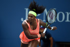 September 6, 2015 - Serena Williams in action in a women's singles fourth-round match against Madison Keys during the 2015 US Open at the USTA Billie Jean King National Tennis Center in Flushing, NY. (USTA/Andrew Ong)