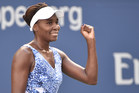 September 6, 2015 - Venus Williams in action in a women's singles fourth-round match against Anett Kontaveit during the 2015 US Open at the USTA Billie Jean King National Tennis Center in Flushing, NY. (USTA/Pete Staples)