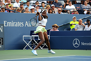 August 31, 2015 - Sloane Stephens in action in the Women's Singles - Round 1 during the 2015 US Open at the USTA Billie Jean King National Tennis Center in Flushing, NY. (USTA/Garrett Ellwood)