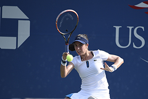 September 1, 2015 - Christina Mchale in action against Petra Cetkovska in a women's singles first round match during the 2015 US Open at the USTA Billie Jean King National Tennis Center in Flushing, NY. (USTA/Steven Ryan)