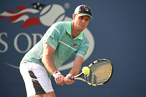 September 1, 2015 - Sam Querrey in action in a men's singles first round match during the 2015 US Open at the USTA Billie Jean King National Tennis Center in Flushing, NY. (USTA/Garrett Ellwood)