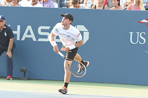 September 2, 2015 - Diego Schwartzman in action against Rafael Nadal (not pictured) in a men's singles second round match during the 2015 US Open at the USTA Billie Jean King National Tennis Center in Flushing, NY. (USTA/USTA/Garrett Ellwood)