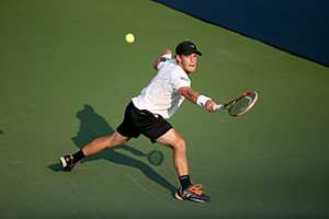 September 2, 2015 - Diego Schwartzman in action against Rafael Nadal (not pictured) in a men's singles second round match during the 2015 US Open at the USTA Billie Jean King National Tennis Center in Flushing, NY. (USTA/Ned Dishman)