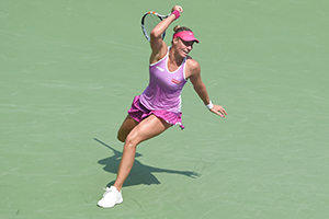 September 3, 2015 - Yanina Wickmayer in action during a women's singles second round match at the 2015 US Open at the USTA Billie Jean King National Tennis Center in Flushing, NY. (USTA/Garrett Ellwood)