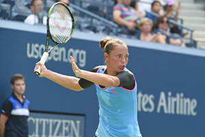 September 3, 2015 - Kateryba Bondarenko in action during a women's singles second round match at the 2015 US Open at the USTA Billie Jean King National Tennis Center in Flushing, NY. (USTA/Garrett Ellwood)