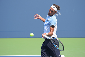 September 3, 2015 - Ruben Bemelmans in action in a men's singles second round match against Jack Sock during the 2015 US Open at the USTA Billie Jean King National Tennis Center in Flushing, NY. (USTA/Pete Staples)