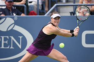September 4, 2015 - Madison Brengle in action in a women's singles third round match against Anett Kontaveit during the 2015 US Open at the USTA Billie Jean King National Tennis Center in Flushing, NY. (USTA/Brian Friedman)