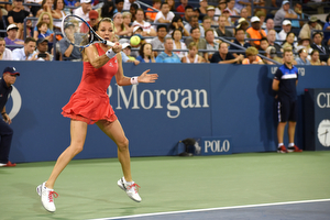 September 4, 2015 - Agnieszka Radwanska in action against Madison Keys (not pictured) in a women's singles third-round match during the 2015 US Open at the USTA Billie Jean King National Tennis Center in Flushing, NY. (USTA/Brian Friedman)