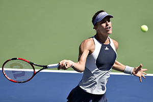 September 5, 2015 - Andrea Petkovic in action in a women's singles third-round match against Johanna Konta during the 2015 US Open at the USTA Billie Jean King National Tennis Center in Flushing, NY. (USTA/Garrett Ellwood)