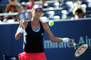 September 5, 2015 - Varvara Lepchenko in action against Mona Barthel (not pictured) in a women's singles third-round match during the 2015 US Open at the USTA Billie Jean King National Tennis Center in Flushing, NY. (USTA/Brian Friedman)