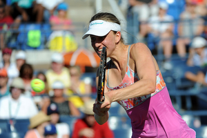 September 5, 2015 - Mona Barthel in action against Varvara Lepchenko (not pictured) in a women's singles third-round match during the 2015 US Open at the USTA Billie Jean King National Tennis Center in Flushing, NY. (USTA/Brian Friedman)