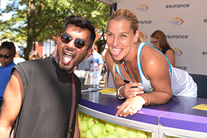 September 5, 2015 - Dominika Cibulkova greets fans and signs autographs at the esurrance booth during the 2015 US Open at the USTA Billie Jean King National Tennis Center in Flushing, NY. (USTA/Pete Staples)