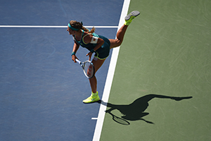 September 7, 2015 - Victoria Azarenka in action in a women's singles fourth-round match against Varvara Lepchenko during the 2015 US Open at the USTA Billie Jean King National Tennis Center in Flushing, NY. (USTA/Andrew Ong)