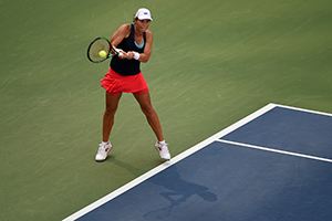 September 7, 2015 - Varvara Lepchenko in action in a women's singles fourth-round match against Victoria Azarenka during the 2015 US Open at the USTA Billie Jean King National Tennis Center in Flushing, NY. (USTA/Andrew Ong)