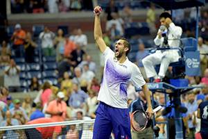 Cilic prevails in five over Tsonga
